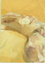 "Helen Selsdon ""Joel sleeping Cape May"" 2011 Oil on board 18.75 x 14.5"""