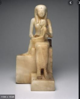 """Statue of Queen Ankhnes-meryre II and Her Son, Pepy II"" (ca. 2288-2224 or 2194 B.C.E.)"