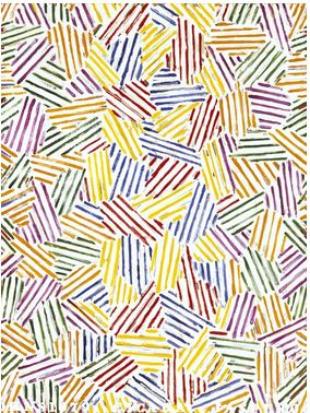 "Jasper Johns, ""Cicada"" (1979) Oil on canvas, 48"" × 36"""